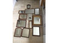 Collection of vintage mirrors