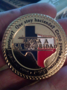 LARGE 45mm TEXAS DYNA GRID GROUP COIN.