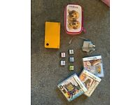 Nintendo DSI XL (YELLOW), 8 games, charger and case FOR SALE