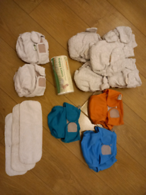 Little Lamb and Big softies by Nature Babies Reusable Nappy Bundle