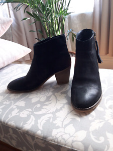 Leather Urban Outfitters Black Booties *worn once*
