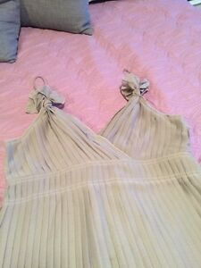 Party Dress. Nude/Beige. Pleated. Size M. Kitchener / Waterloo Kitchener Area image 2