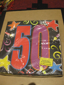 NEW 50th Birthday/Party Supplies - NAPKINS ONLY