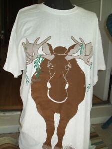New 100% Canadian,cotton unisex Moose t-shirt/beach/night shirt