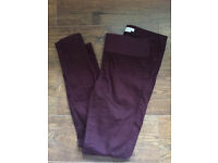 Mamas&papas size 10 wine coloured maternity jeans