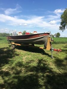 14ft aluminum boat with 25hp evinrude