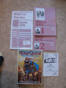 RuneQuest Fantasy Role Playing Adventure Player Box