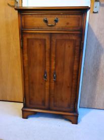 Yew veneered CD Cabinet
