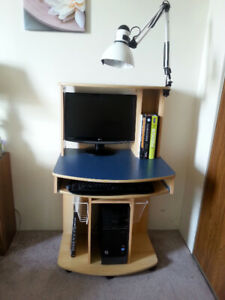 Lamp, Monitors, Keyboards and Books