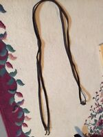 Short leather draw reins