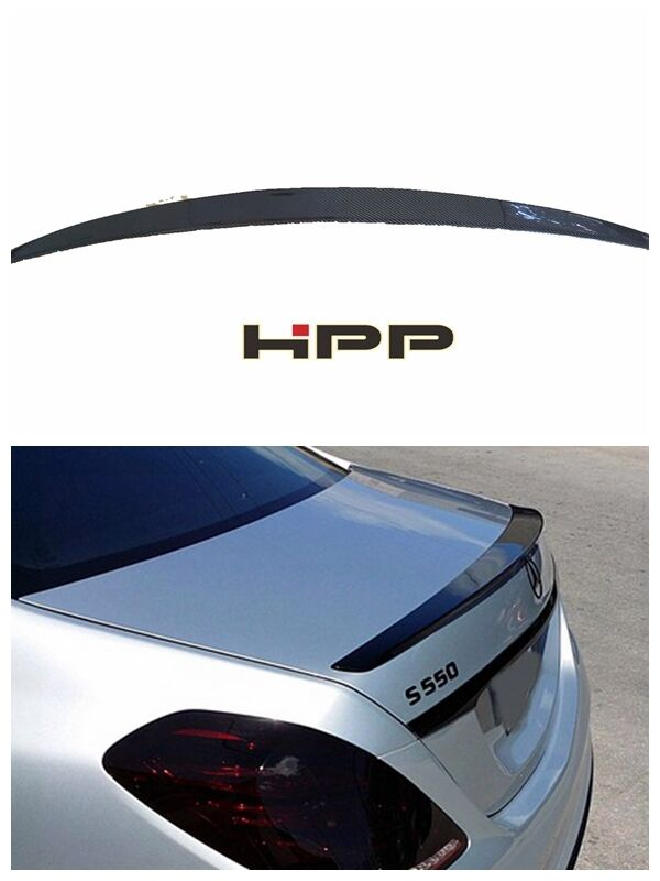 For Mercedes Benz W222 Carbon Fiber Rear Wing Trunk Spoiler AMG Style