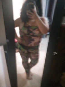 Army body suit & snow white tights