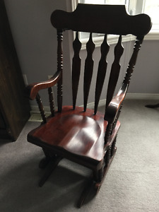 Solid Wood Glider Chair