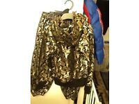 Brand new black gold tracksuit