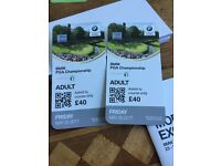 2 Tickets for Friday at BMW PGA Championship 2017
