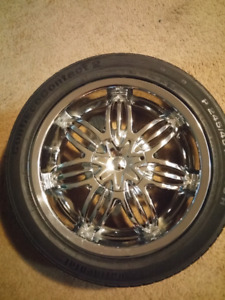 17 inch mags with Continental Tires