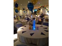 Chair cover hire, table cloth & more hire reliable service