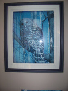 3D hand made gorgeous pic of owl