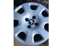 Wheels and wheel trims Peugeot 206