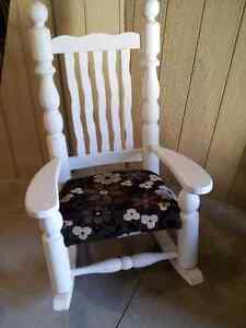 New Price!! Large Chalk Painted Rocking Chair