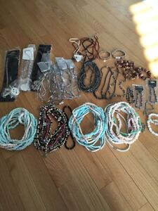 New - Lot of Bracelets, Necklaces, Metal & Shell, Hematite
