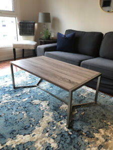 Faux Reclaimed Wood Coffee Table