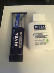 Nivea for men shaving cream and after shave balm