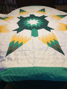 Large (queen) Ojibwa Turtle Star Blanket $600.00 obo