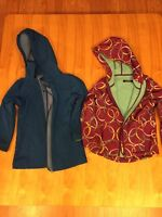 2 girls jackets and 1 boy jacket