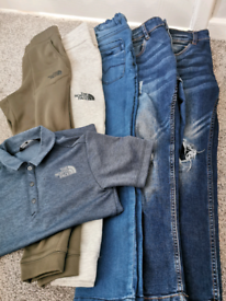 Boys next and North face bundle