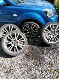 """98 X 4 17"""" alloy wheels"""