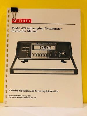 Keithley 485-901-01 Rev D Model 485 Autoranging Picoammeter Instruction Manual