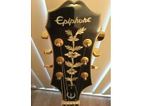 Epiphone Broadway, Korean made, as new and with Original Hard Shell Case