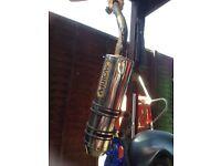Gilera runner vxr arrow exhaust pipe 125