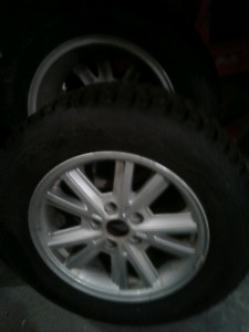 4 winter tires on rims