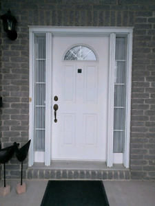 "36"" door with 2 sidelights. GUC."
