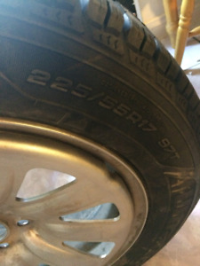 Brand new winter tires with steel rims