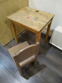 Children's desk and Ikea chair
