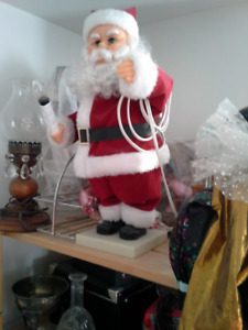 Vintage Animated Santa Claus holding candlelight for sale