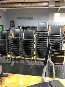Stackable commercial chairs