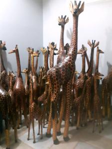 Wooden Giraffes from Kenya for sale