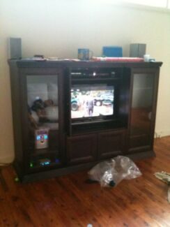TV Cabinet / Entertainment Unit - Kiaat (Muninga) Wood St Ives Ku-ring-gai Area Preview