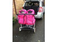 Twin oyster lite pushchair