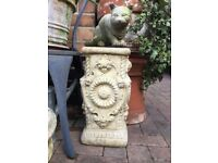 Vintage decorative garden plinth, plant or sundial stand
