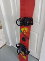 Snowboard burton Custom 2012 - Mission bindings