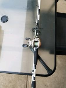 Baitcast froggin combo, Musky rod, and fly combo