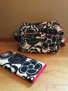 JuJuBe Be Prepared Diaper Bag - Onyx Blossoms Pattern
