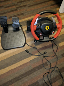 USB Thrustmaster Ferrari 458 spider with pedals for XBOX