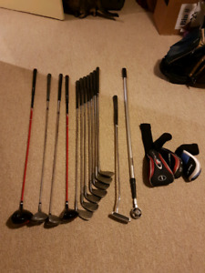Set of left hand clubs with bag