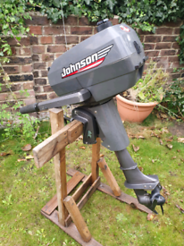 Outboard Johnson 4hp short shaft twin cylinder